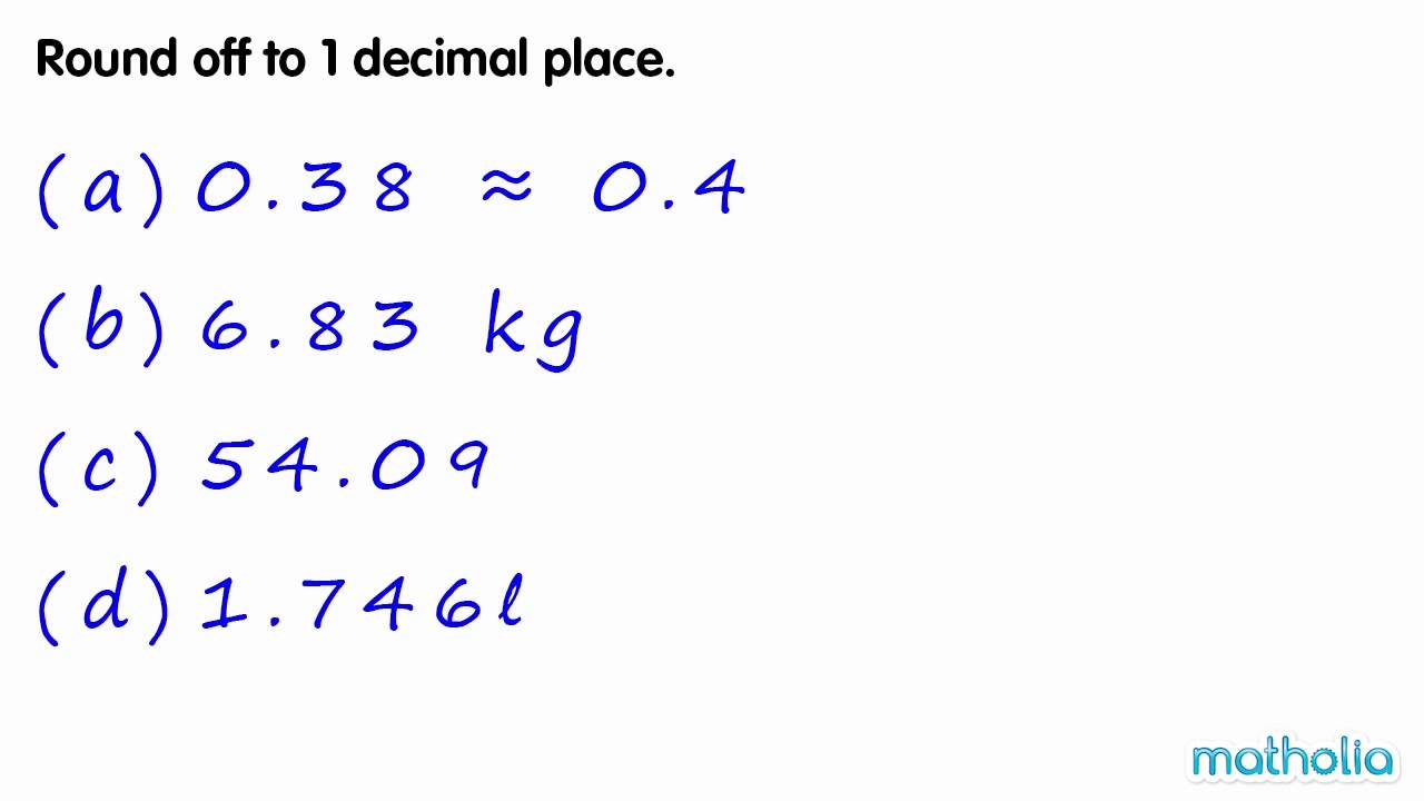 Rounding to 1 decimal place youtube.