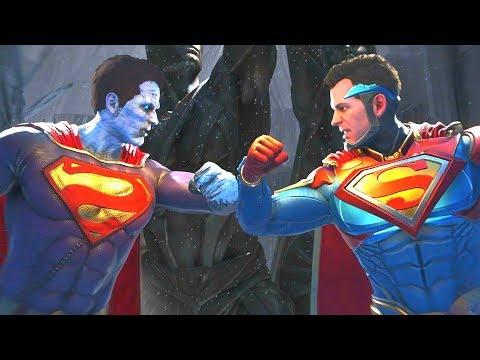 Injustice 2 - Bizarro Vs Superman All  Intro Dialogue/All Clash Quotes, Super Moves