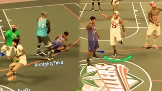 NBA 2k17 MyPARK - HOF Brick Wall Cheese! Ankle Breaker + Glass Cleaner Bully! Road to Legend Ep. 11