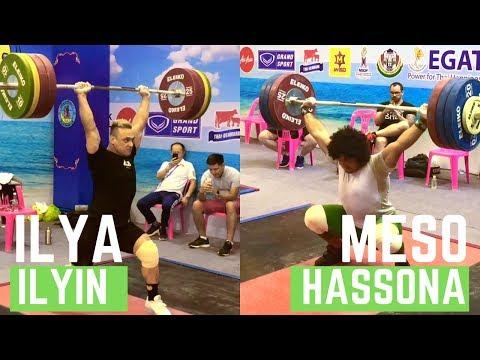 A training of Ilya Ilyin and Meso Hassona