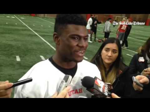 Freshman QB Tyler Huntley talks about the QB competition ...