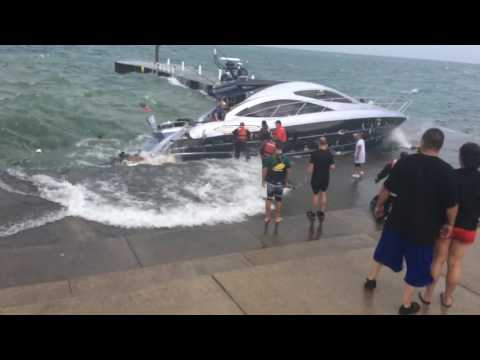 Chicago Lakefront Boat Rescue Oakwood By Chicago Fire Dept Part 2