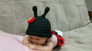 Newborn Ladybug Costume/Newborn Halloween Costume/Ladybug Photo Props