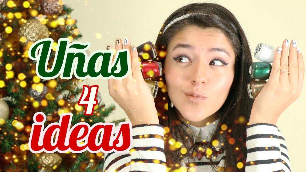 ideas de uas para navidad y ao nuevo uas decoradas con esmalte musas youtube