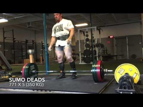 Dan Green - Deadlifts 771 x 5 (350 kg)