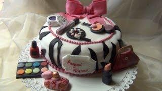 Torta makeup ,HOW TO MAKE A MAKE UP CAKE!
