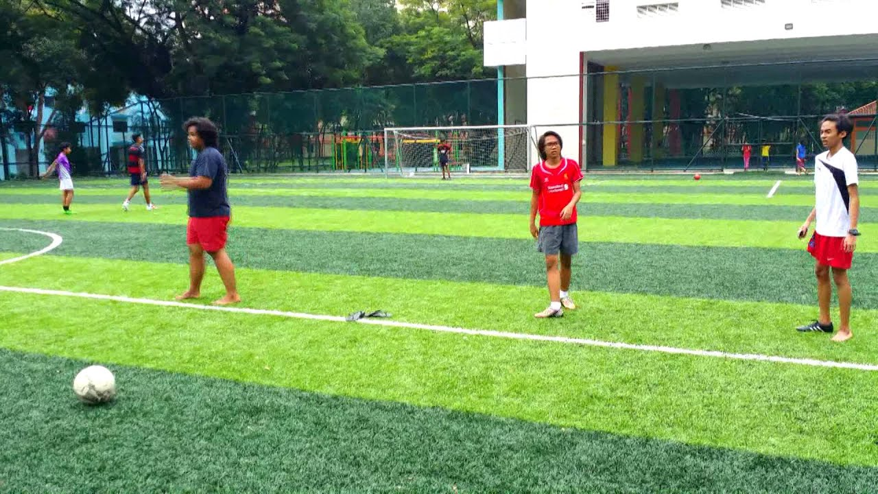 Playing football with friends - YouTube