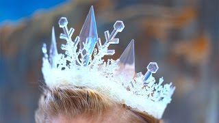 How To Make An Elsa Ice Queen Crown!