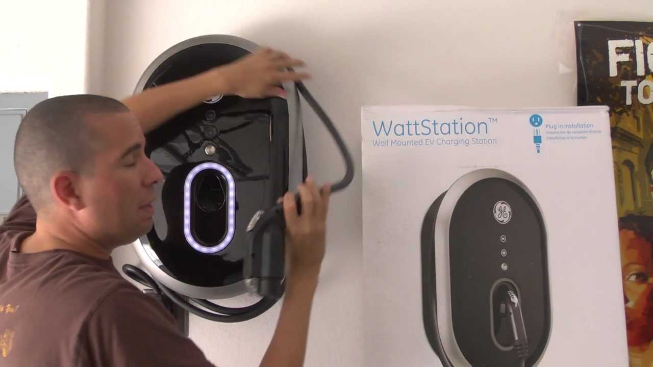 ge wattstation level 2 ev charger review chevy volt youtube. Black Bedroom Furniture Sets. Home Design Ideas
