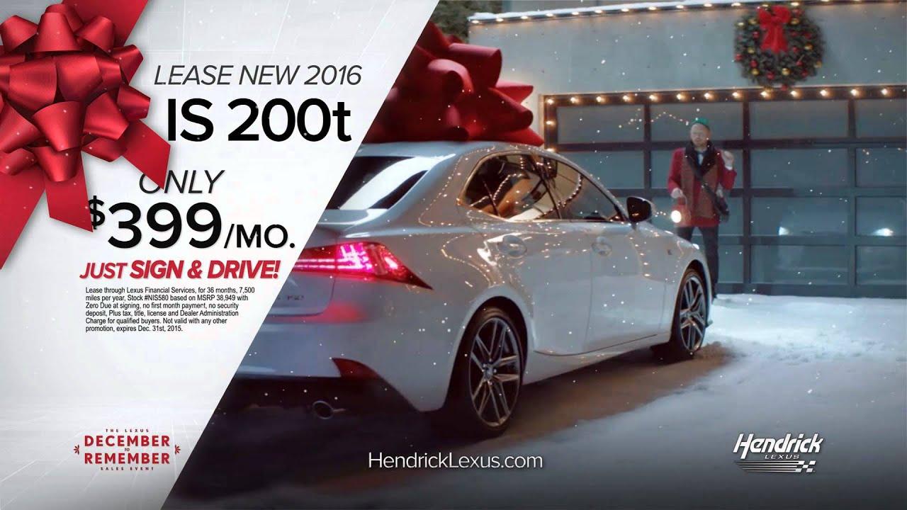 Hendrick Lexus Charlotte >> Hendrick Lexus Charlotte Northlake December To Remember