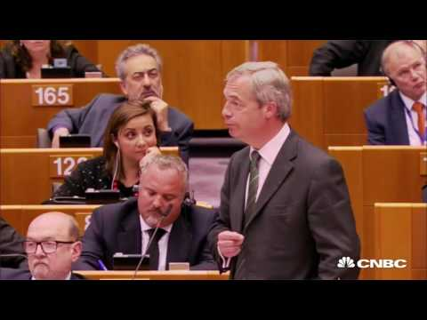 Nigel Farage booed and jeered as he addresses European Parliament