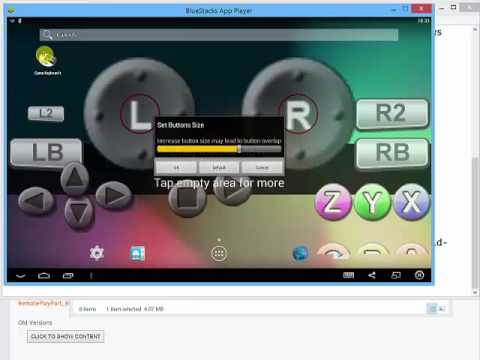 how to make bluestacks detect a controller