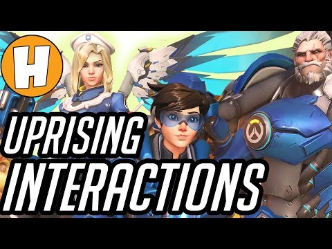 Overwatch Uprising Interactions and Voice Lines! | Hammeh