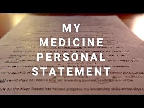 MY MEDICINE PERSONAL STATEMENT - 3 OFFERS