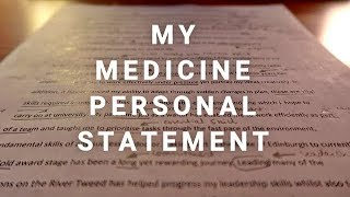 Gambar cover MY MEDICINE PERSONAL STATEMENT - 3 OFFERS