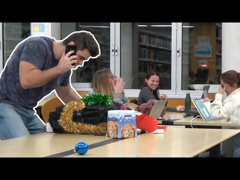 CHRISTMAS RINGTONES IN THE LIBRARY  PRANK!