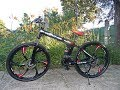 Mountain bike Folding bike Magnesium alloy wheels Bicicleta pliabila