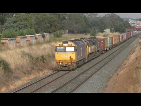 Trains around Ballarat Victoria Australia