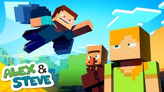 ✈️ HOW TO FLY, STEVE STYLE!! | The Minecraft Life of Alex and Steve | Minecraft Animation