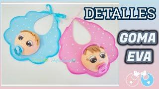 Detalles para Bautizos, Nacimientos y Baby Shower  - Baberos de Goma eva