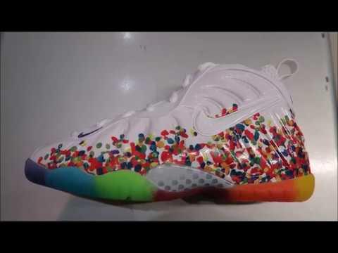 3b2af7144506 Nike Foamposite Fruity Pebbles 2017 Sneaker - YouTube