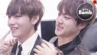 TAEJIN Taehyung and Jin can t take their eyes off each other BTS V AND JIN