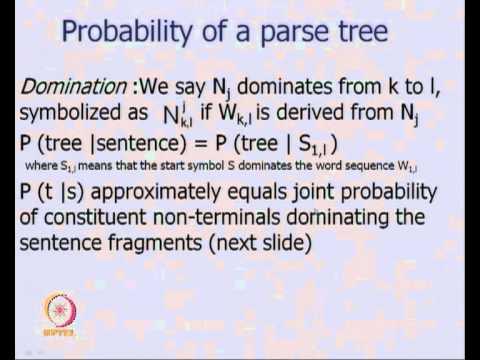 Mod-01 Lec-40 Probabilistic Parsing Algorithms