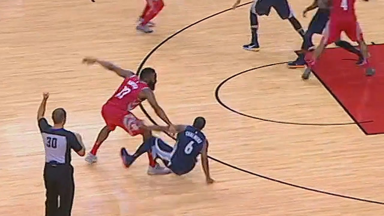 bea58d651fd5 James Harden and Mario Chalmers Scuffle! - YouTube