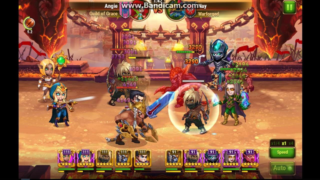 Hero wars , Badass Ishmael fighting against 20 level higher team