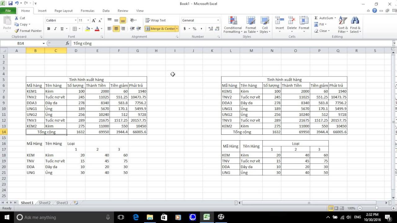 Hướng dẫn Tạo Bảng Trong Excel 2007 2010 2013 2015 2016