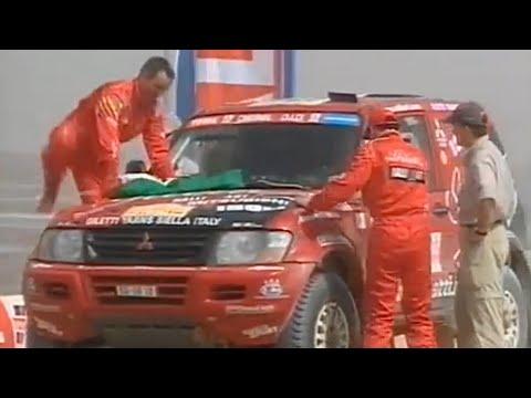 PARIS DAKAR 2002 GIANNI LORA LAMIA MMC MITSUBISHI RALLIART