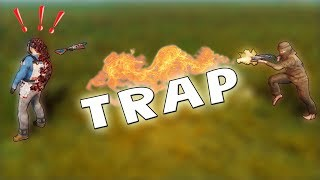 TRAPPING The SALTY Kids Who RAIDED us Earlier!! Rust Trap Base
