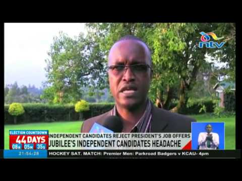 Independent candidates reject president's job offers