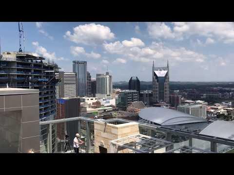 Nashville Skyline Total Eclipse Time Lapse Video