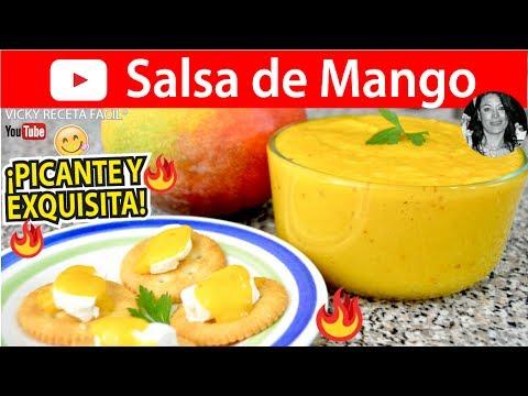 CÓMO HACER SALSA DE MANGO |  Vicky Receta Facil