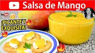 cómo hacer salsa de mango vicky receta facil