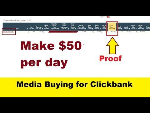 Display Media Buying + Clickbank Make $50 Per day