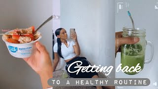 VLOG  Getting Back Into A Healthy Routine  Workout &amp Recipes