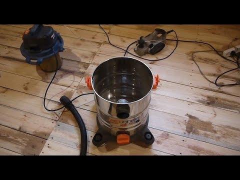 Работа со строительным пылесосом без мешка для сбора пыли