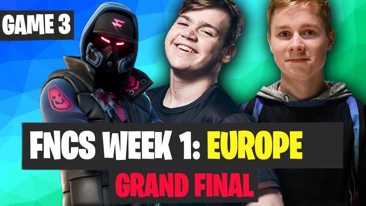 FNCS Week 1 Final Game 3 Highlights - EU Fortnite