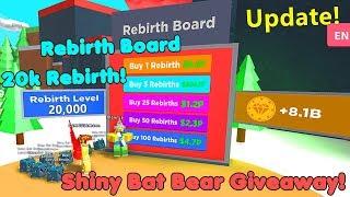 Update! Rebirth Board! I Got 20,000 Rebirth! Shiny Bat Bear Giveaway! - Magnet Simulator
