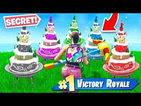 All 10 Fortnite *SECRET* Birthday Cake Locations! (NEW Fortnite Birthday Challenges)