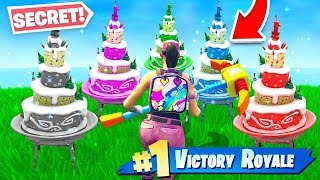 All 10 Fortnite *SECRET* Birthday Cake Locations! (NEW Fortnite Birthday Challenges)