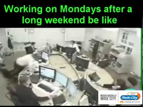 Working on Mondays after a long weekend be like    Radio City Hyderabad