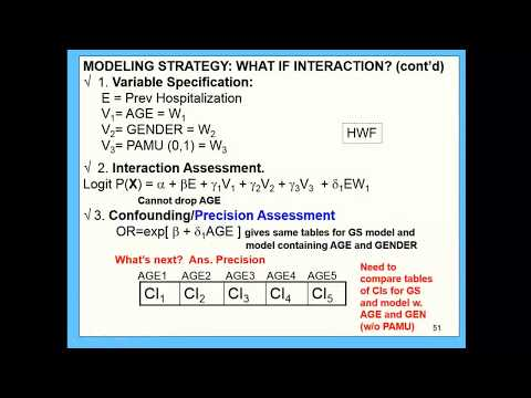 Class 7: Strategy single E interaction, confounding; Strateg