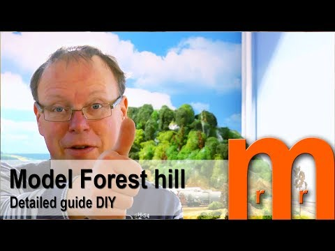 Model a forest hill Easy  - Detailed guide DIY