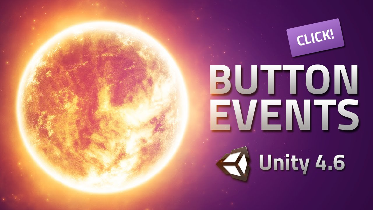 UI Events - Make buttons do something - Unity 4 6 Tutorial