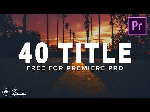 40 Modern & Clean Title Preset Pack For Premiere Pro Template || MOGRT