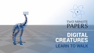 Digital Creatures Learn To Walk | Two Minute Papers #8