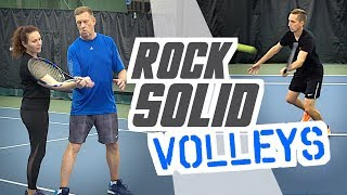 the Secret to ROCK SOLID volleys - tennis lesson